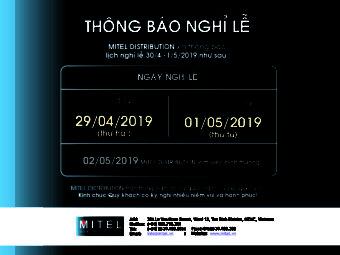 THÔNG BÁO NGHỈ LÊ 30/04-01/05/2019